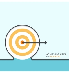 outline flat design of achieving aims vector image vector image