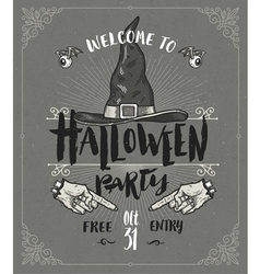 Halloween poster or greeting card vector image vector image