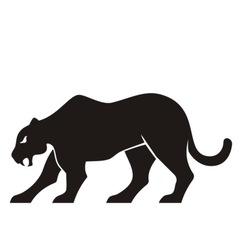 Panther silhouette vector