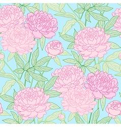 peon pattern blue vector image