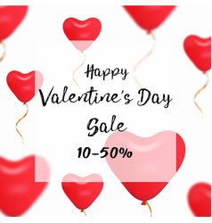 valentines day sale web banner of valentine red vector image