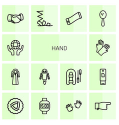 14 hand icons vector