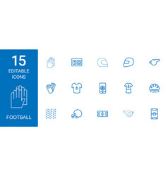 15 football icons vector