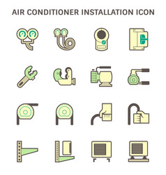 20190414 air conditioner icon 2 green vector
