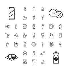 37 beverage icons vector