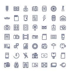 49 photo icons vector