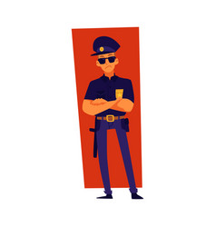 a policeman or police officer standing cartoon vector image