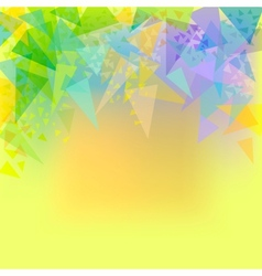 abstract yellow background with triangles vector image