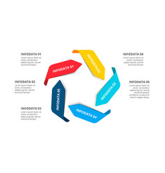 Arrows infographic cycle diagram with 5 vector