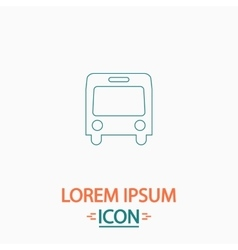 Autobus computer symbol vector