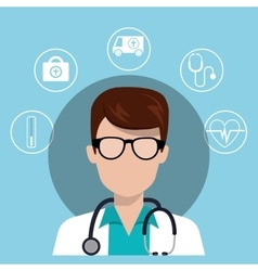 Avatar man medical doctor vector