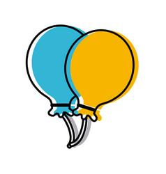 balloons celebration symbol vector image