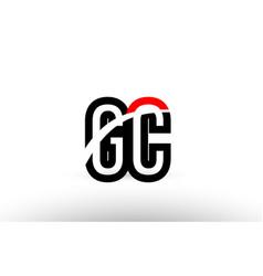 Black white alphabet letter gc g c logo icon vector