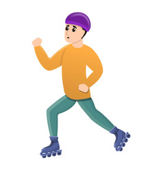 boy inline skates icon cartoon style vector image