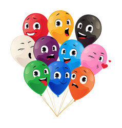 Bunch balloons cartoon party celebration vector