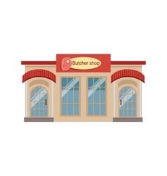 Butchery Commercial Building Facade Design vector