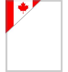 Canadian flag corner frame border vector