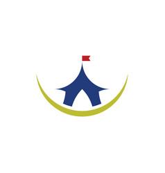 circus tent logo design element symbol vector image
