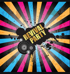 club party flayer for music event or poster vector image
