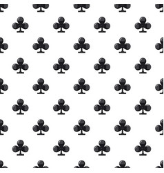Club suit playing card pattern vector