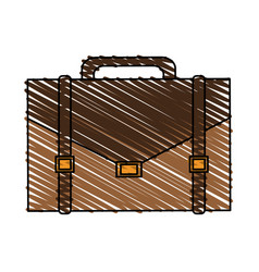 Color crayon stripe executive briefcase with vector