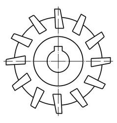 Contour milling cutter vector