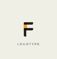 creative letter f for logo and monogram minimal vector image