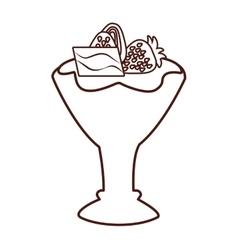 Delicious ice cream cup vector