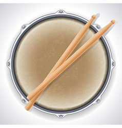 Drum and drumsticks vector