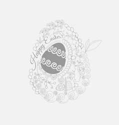 easter egg painted with a thematic pattern eps19 vector image