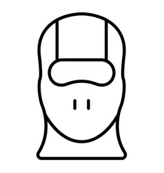 face balaclava icon outline style vector image