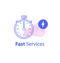 Fast service concept last minute stopwatch vector