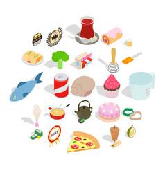 Flour food icons set cartoon style vector