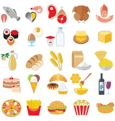 Food color vector image
