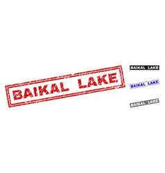 grunge baikal lake textured rectangle watermarks vector image