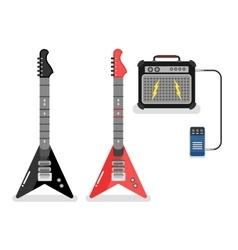 Guitar and amplifier vector