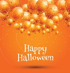 Happy Halloween background with balloons vector