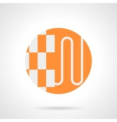 Heat-insulated floor orange round icon vector