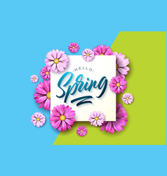 hello spring nature with beautiful vector image