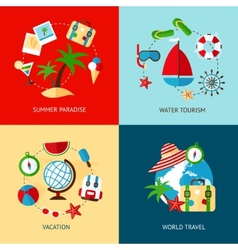 Holiday icons flat set vector image