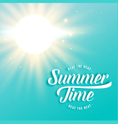 hot sunny summer background with bright sun rays vector image