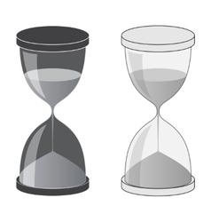 Hourglass dark and light vector