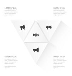 icon job set of amplifier loudspeaker vector image
