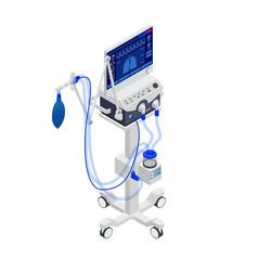 Isometric ventilator medical machine designed to vector