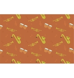 Jazz music pattern Summer jam vector