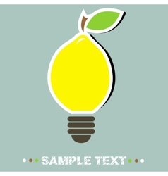 Lemon lamp vector