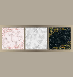 luxury marble and glitter set vector image