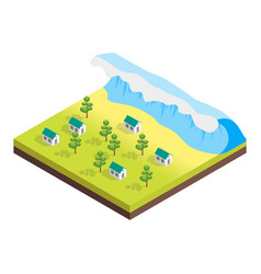 nature disaster concept 3d isometric view vector image