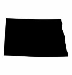 North dakota state silhouette map vector
