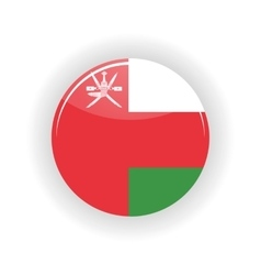 Oman icon circle vector image